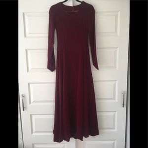 Vintage handmade✨🌟 wine colored velvet dress